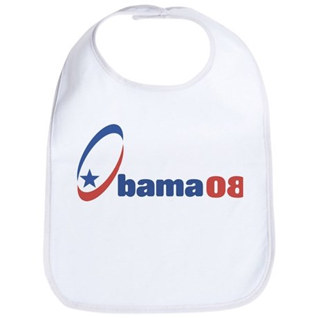 Obama 08 (circle-star) Bib