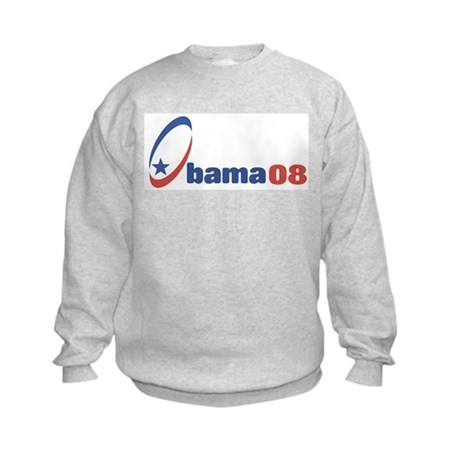 Obama 08 (circle-star) Kids Sweatshirt