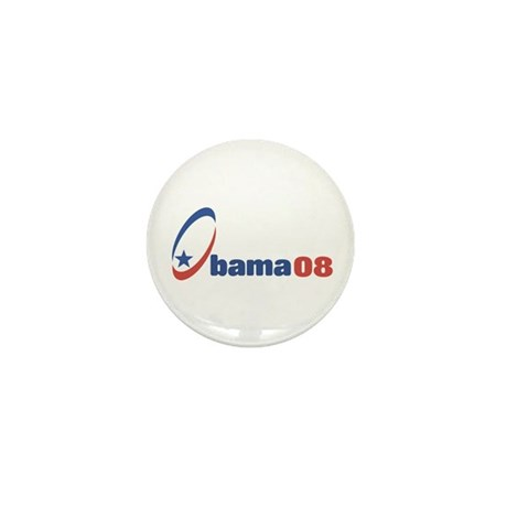 Obama 08 (circle-star) Mini Button (10 pack)