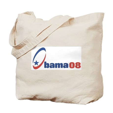 Obama 08 (circle-star) Tote Bag