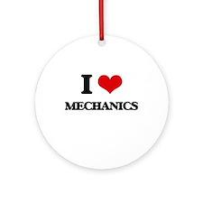 I love Mechanics Ornament (Round)
