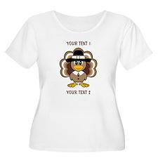 Personalized Baby Turkey-Pilgrim Plus Size T-Shirt