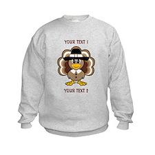 Personalized Baby Turkey-Pilgrim Sweatshirt