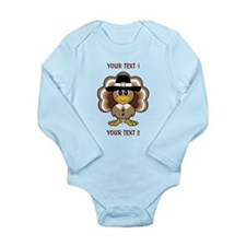 Personalized Baby Turkey-Pilgrim Body Suit