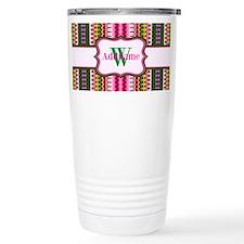 Monogrammed Aztec Triba Travel Mug