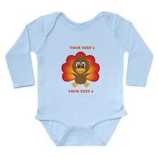 Personalized Baby Turk Long Sleeve Infant Bodysuit