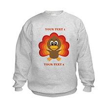 Personalized Baby Turkey Sweatshirt