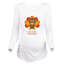 Personalized Baby Tu Long Sleeve Maternity T-Shirt