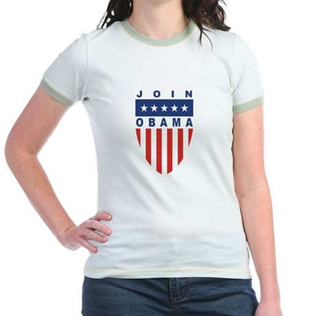 Join Obama Jr. Ringer T-Shirt