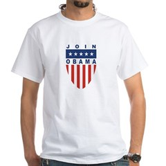 Join Obama White T-Shirt