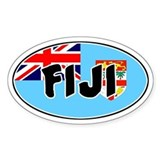 Fiji Oval Decal