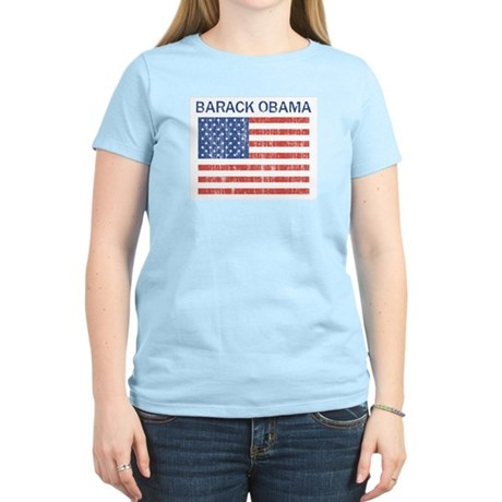 Barack Obama (Flag-Vintage) Women's Light T-Shirt