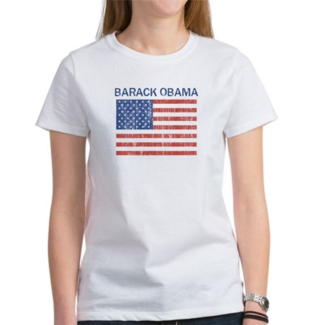 Barack Obama (Flag-Vintage) Women's T-Shirt