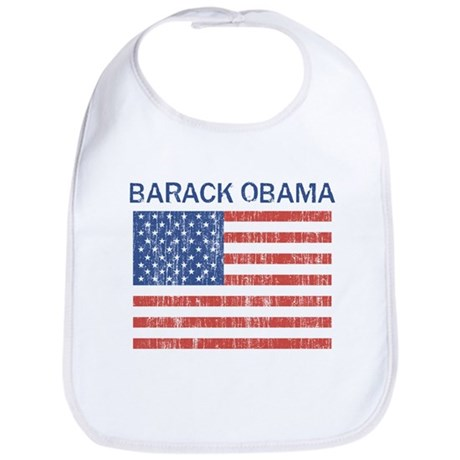 Barack Obama (Flag-Vintage) Bib