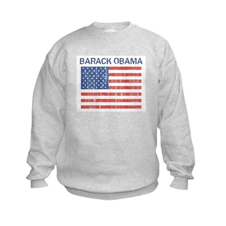 Barack Obama (Flag-Vintage) Kids Sweatshirt