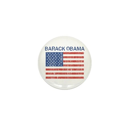 Barack Obama (Flag-Vintage) Mini Button (100 pack)