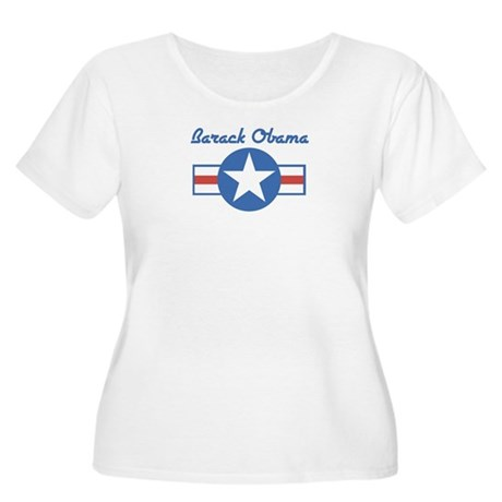 Barack Obama (star) Women's Plus Size Scoop Neck T