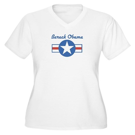 Barack Obama (star) Women's Plus Size V-Neck T-Shi
