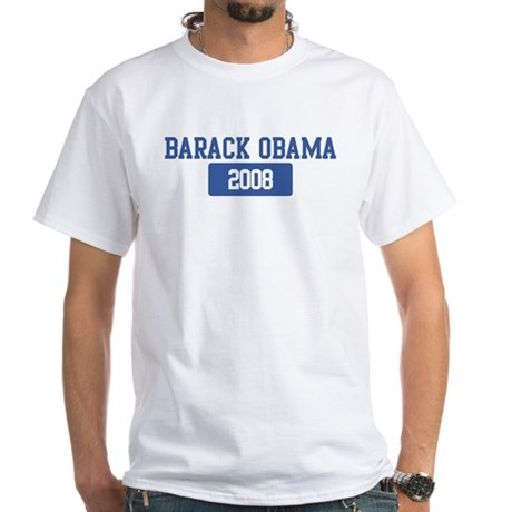 Barack Obama 2008 (blue) White T-Shirt