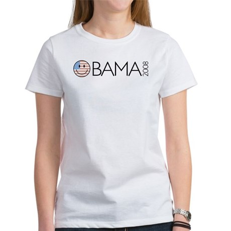 Obama (Smiley-flag) Women's T-Shirt