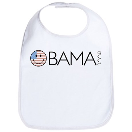 Obama (Smiley-flag) Bib