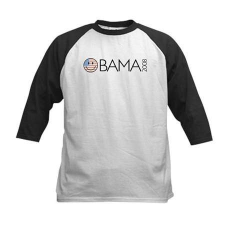 Obama (Smiley-flag) Kids Baseball Jersey