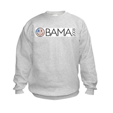 Obama (Smiley-flag) Kids Sweatshirt