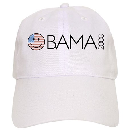 Obama (Smiley-flag) Cap