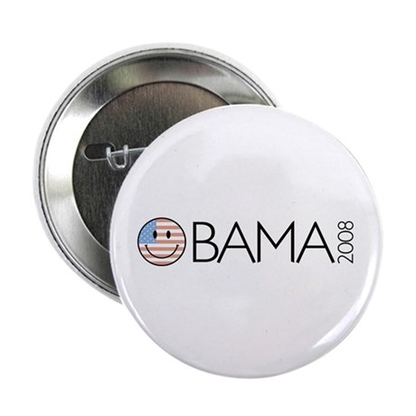 "Obama (Smiley-flag) 2.25"" Button (10 pack)"