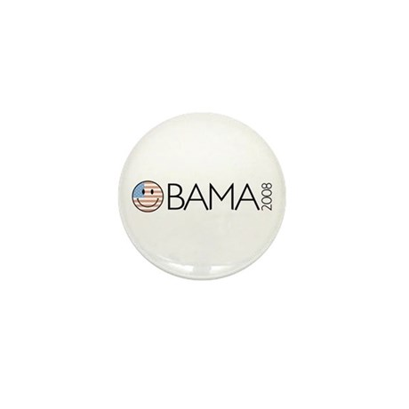 Obama (Smiley-flag) Mini Button (100 pack)
