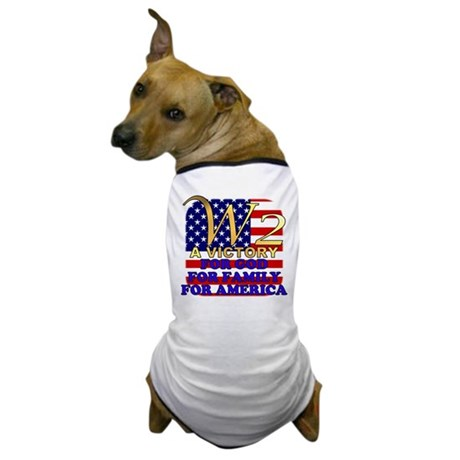 W2 President George W Bush Dog T-Shirt