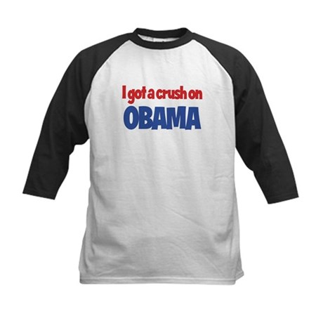 I Got a Crush on Obama Kids Baseball Jersey