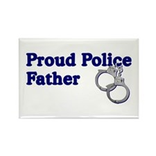 Proud Police Father Rectangle Magnet