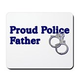 Proud Police Father Mousepad