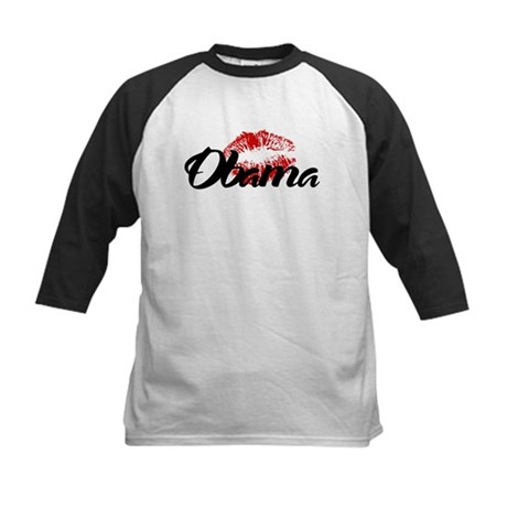 Obama Kiss Kids Baseball Jersey
