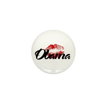 Obama Kiss Mini Button (100 pack)