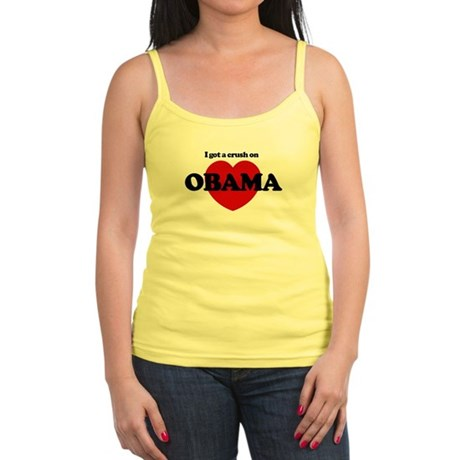 I Got a Crush on Obama (heart Jr. Spaghetti Tank