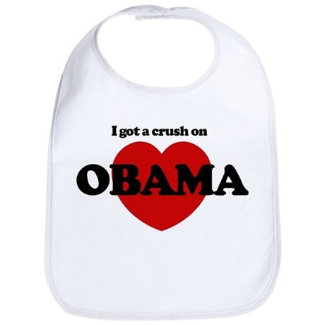 I Got a Crush on Obama (heart Bib