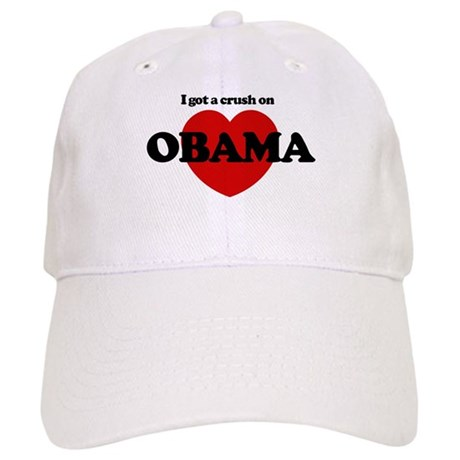 I Got a Crush on Obama (heart Cap