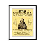 Wild Bill Hickock Framed Panel Print
