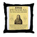 Wild Bill Hickock Throw Pillow