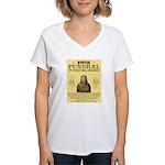 Wild Bill Hickock Women's V-Neck T-Shirt