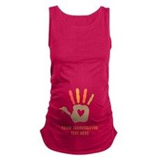 Personalized Turkey Hand Print Maternity Tank Top