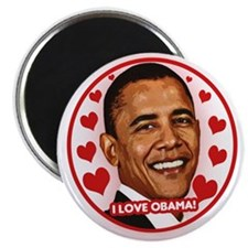 "Cute I love obama 2.25"" Magnet (100 pack)"