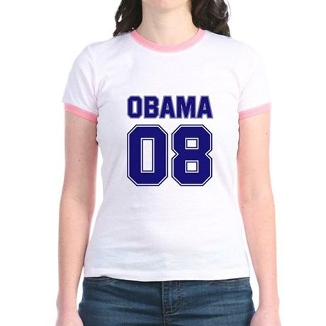 Obama 08 (sport) Jr. Ringer T-Shirt