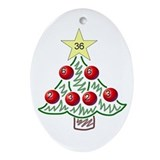 Christmas Factor Tree Oval Ornament