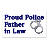 Proud Police Father-in-Law Rectangle Decal