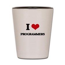 I love Programmers Shot Glass