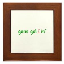 Gone Golfin' Framed Tile