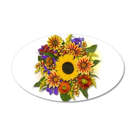 Autumn Bouquet 35x21 Oval Wall Decal